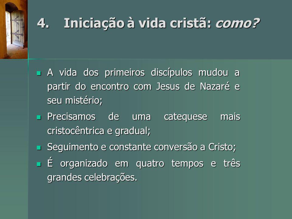 4. Iniciação à vida cristã: como