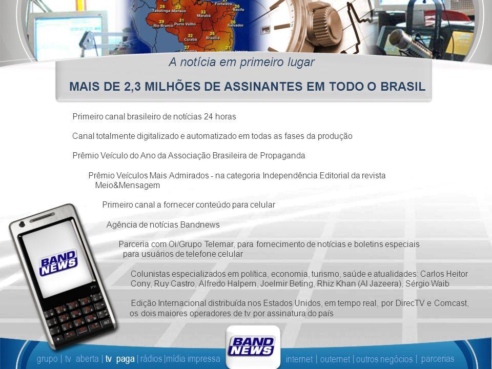 MAIS DE 2,3 MILHÕES DE ASSINANTES EM TODO O BRASIL