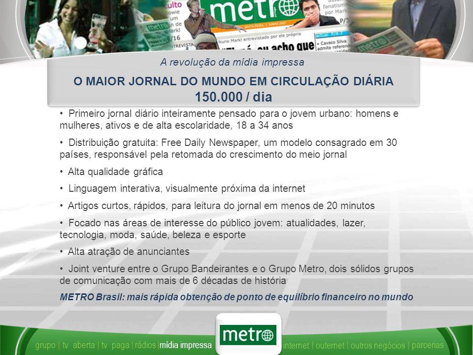 O MAIOR JORNAL DO MUNDO EM CIRCULAÇÃO DIÁRIA