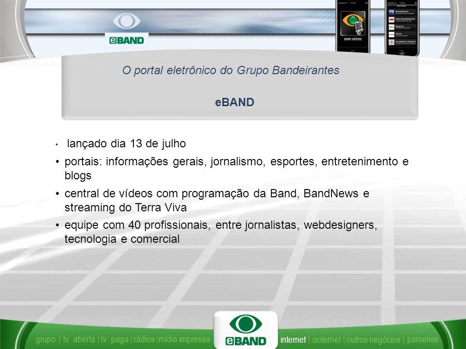 O portal eletrônico do Grupo Bandeirantes