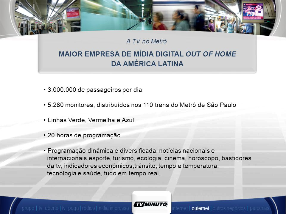 MAIOR EMPRESA DE MÍDIA DIGITAL OUT OF HOME