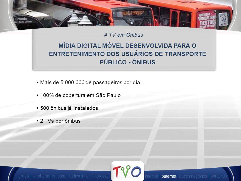 A TV em Ônibus MÍDIA DIGITAL MÓVEL DESENVOLVIDA PARA O ENTRETENIMENTO DOS USUÁRIOS DE TRANSPORTE PÚBLICO - ÔNIBUS.