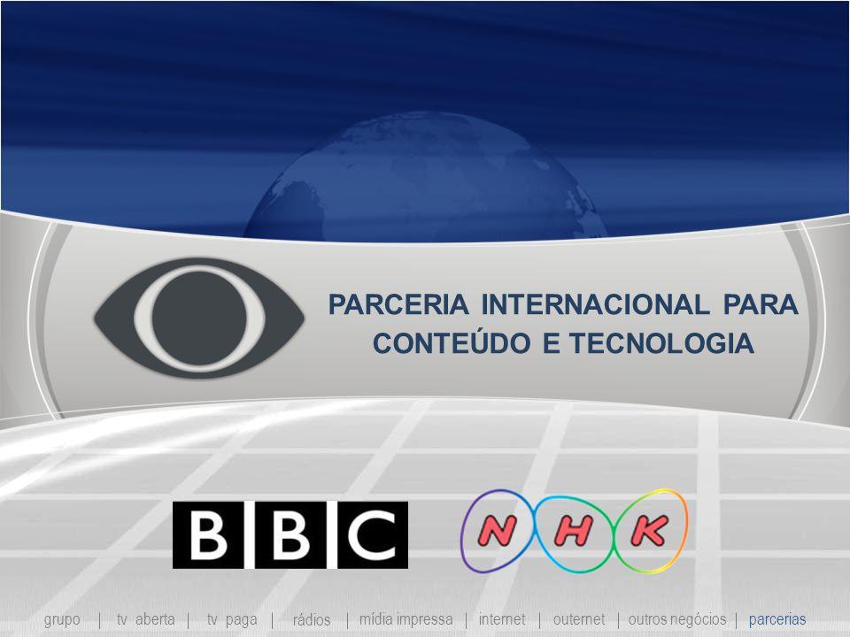 PARCERIA INTERNACIONAL PARA CONTEÚDO E TECNOLOGIA
