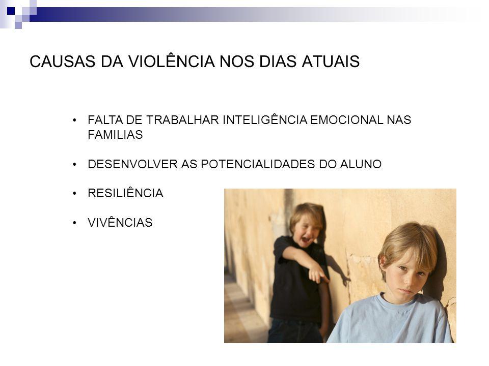 CAUSAS DA VIOLÊNCIA NOS DIAS ATUAIS