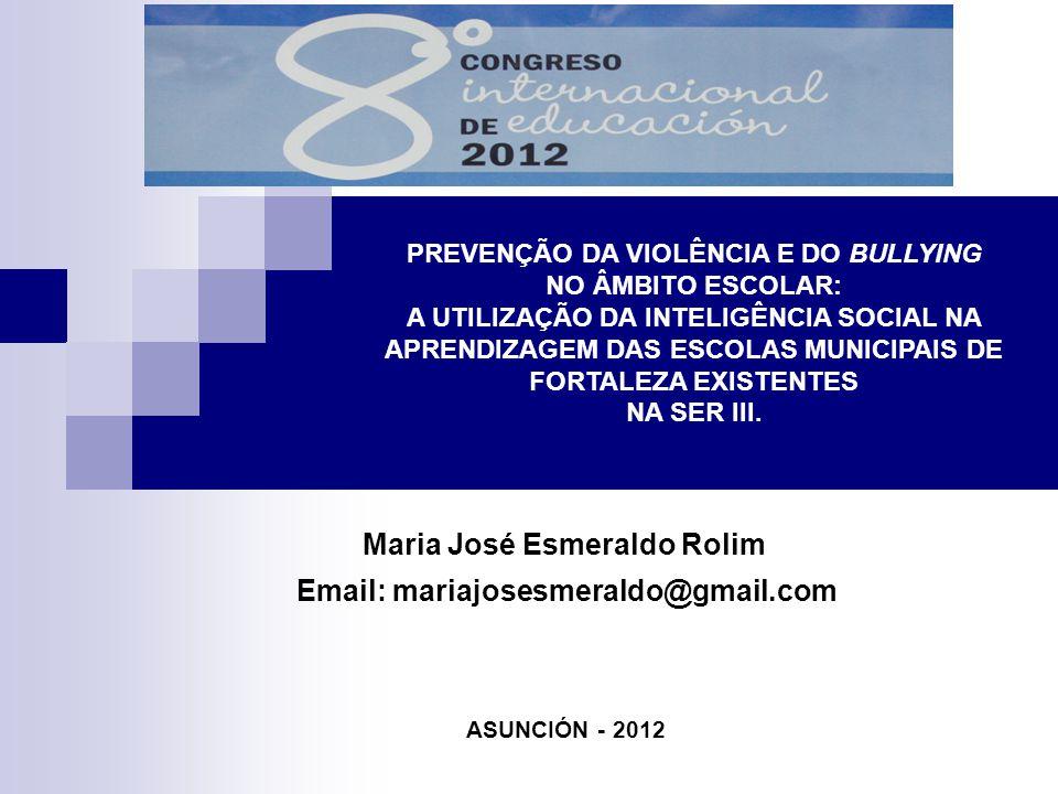PREVENÇÃO DA VIOLÊNCIA E DO BULLYING NO ÂMBITO ESCOLAR: