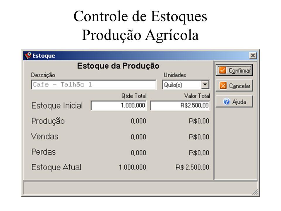 Controle de Estoques Produção Agrícola