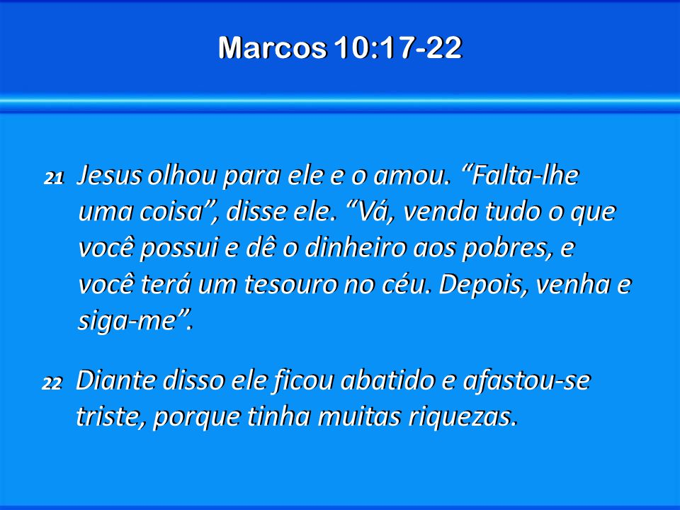Marcos 10:17-22