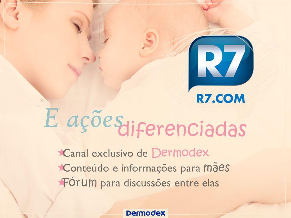 E ações diferenciadas Canal exclusivo de Dermodex