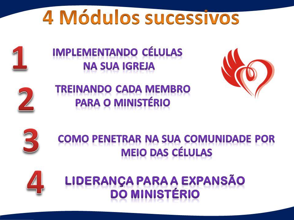1 2 3 4 4 Módulos sucessivos Implementando células na sua igreja