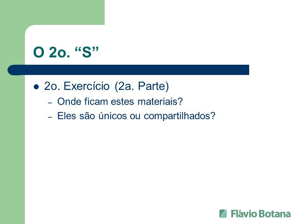 O 2o. S 2o. Exercício (2a. Parte) Onde ficam estes materiais