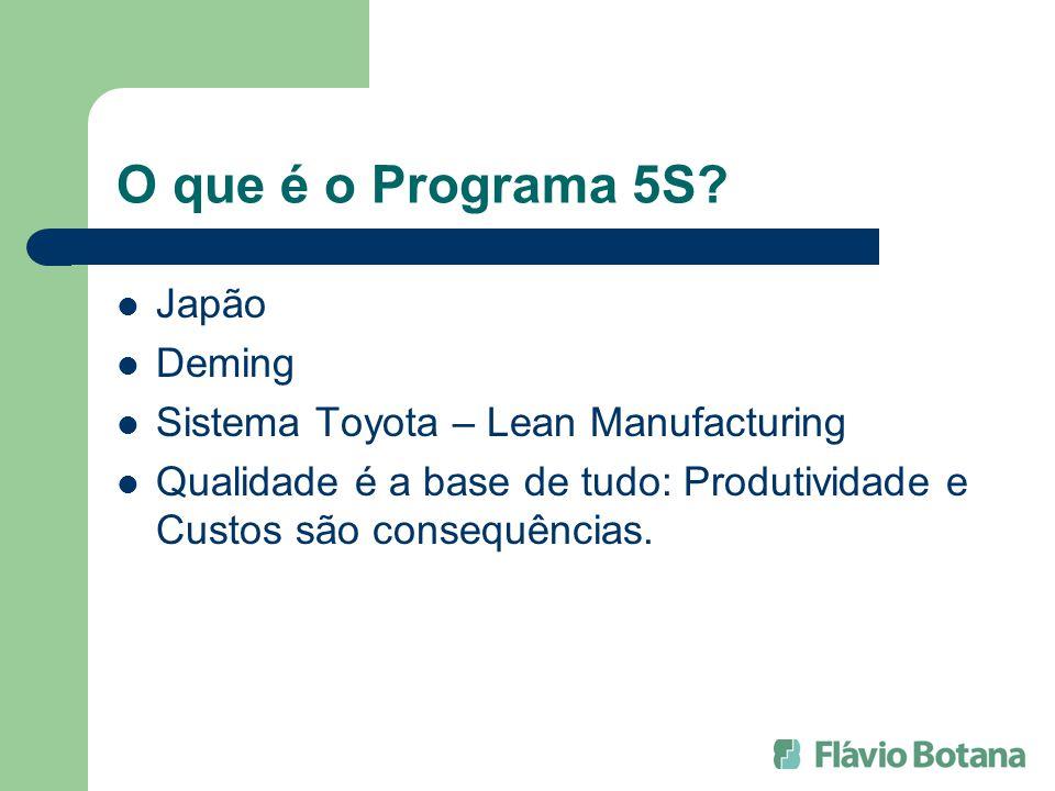 O que é o Programa 5S Japão Deming