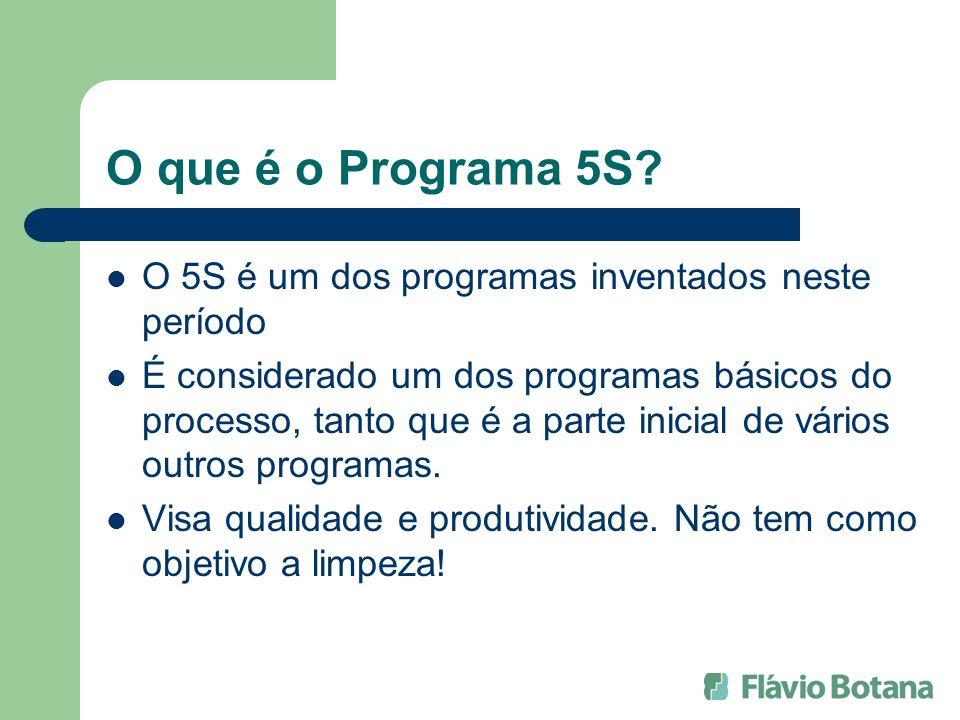 O que é o Programa 5S O 5S é um dos programas inventados neste período.