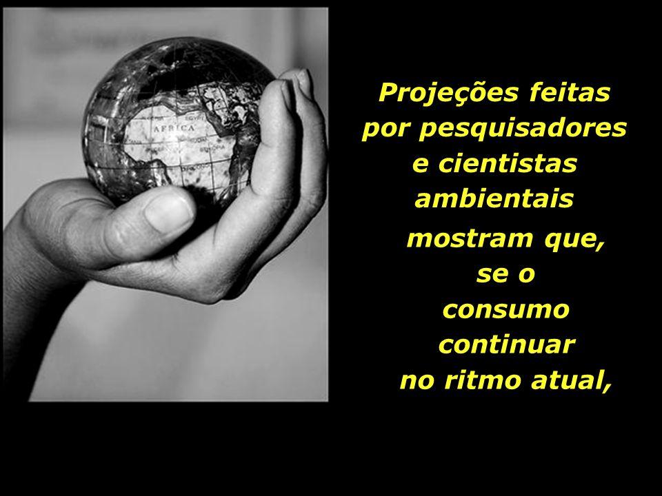 Projeções feitas por pesquisadores e cientistas ambientais