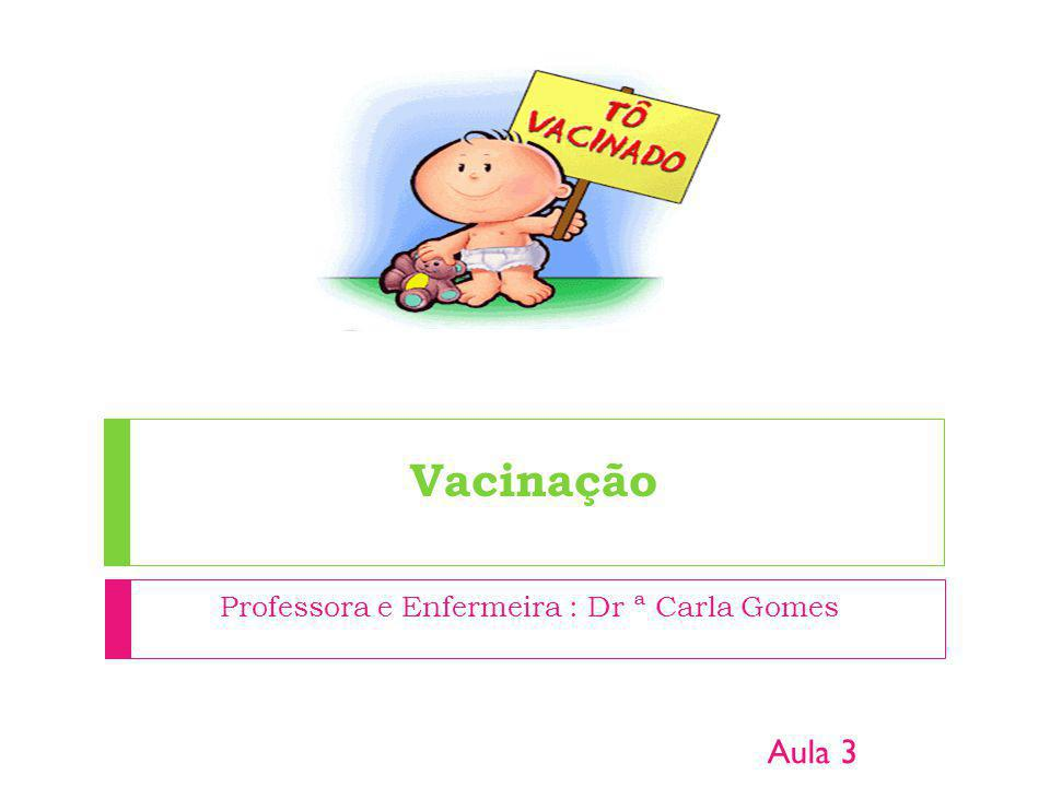 Professora e Enfermeira : Dr ª Carla Gomes