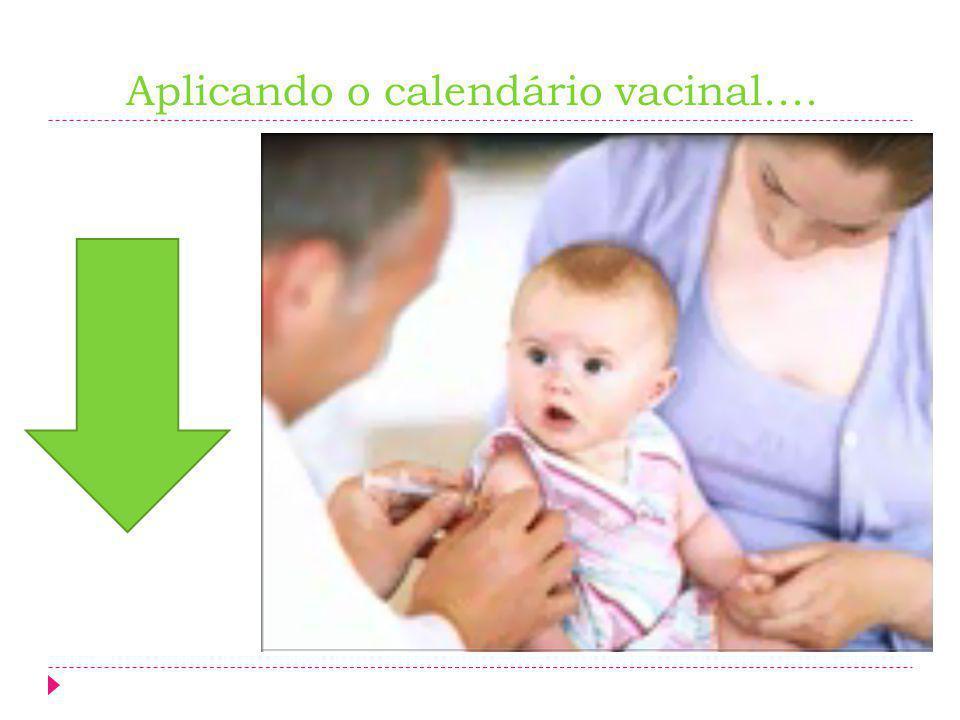 Aplicando o calendário vacinal....