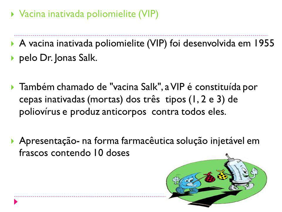 Vacina inativada poliomielite (VIP)