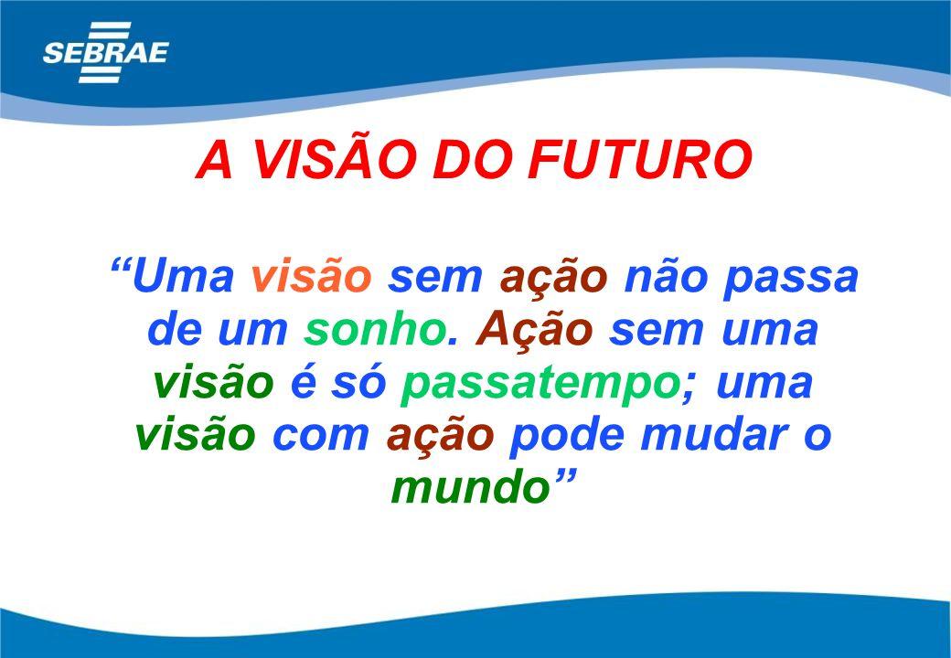 A VISÃO DO FUTURO Uma visão sem ação não passa de um sonho.