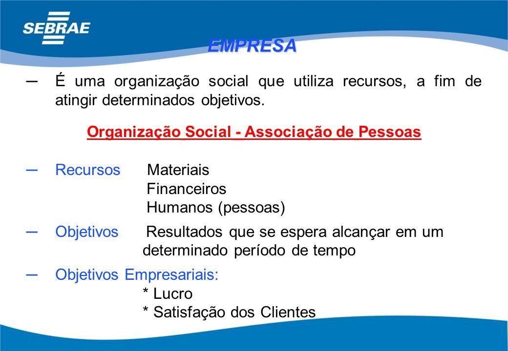 Organização Social - Associação de Pessoas