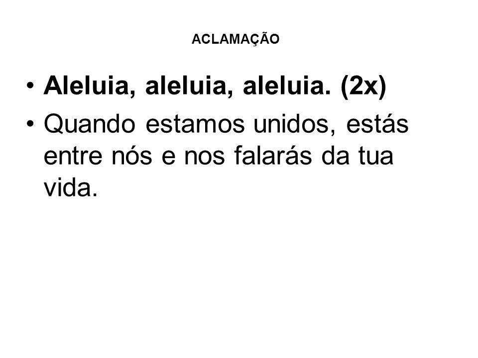 Aleluia, aleluia, aleluia. (2x)