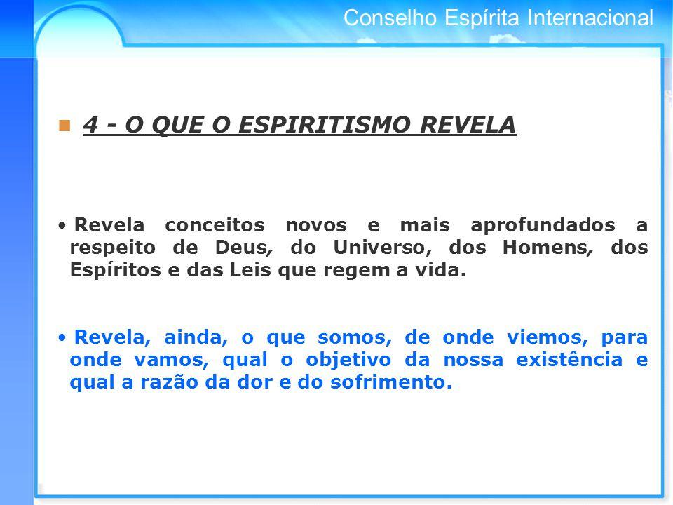 4 - O QUE O ESPIRITISMO REVELA