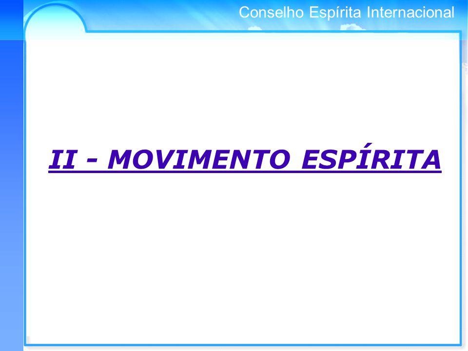 II - MOVIMENTO ESPÍRITA