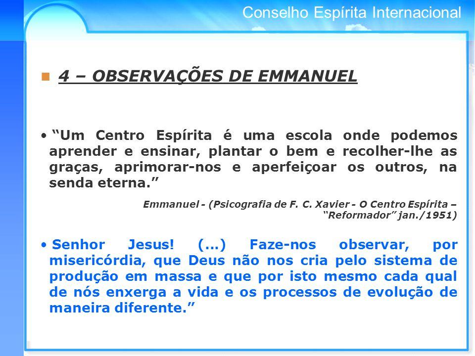 4 – OBSERVAÇÕES DE EMMANUEL