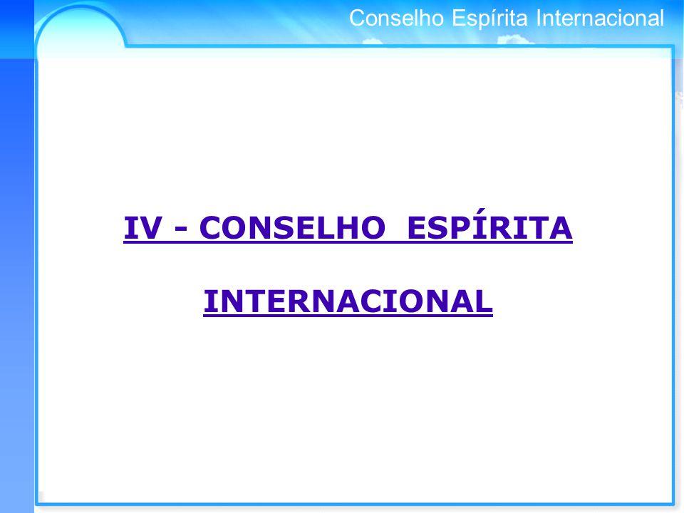 IV - CONSELHO ESPÍRITA INTERNACIONAL