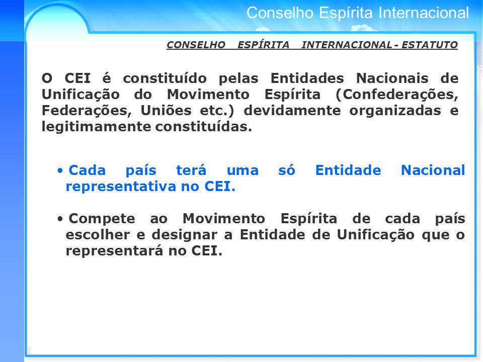 CONSELHO ESPÍRITA INTERNACIONAL - ESTATUTO
