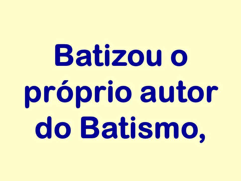 Batizou o próprio autor do Batismo,