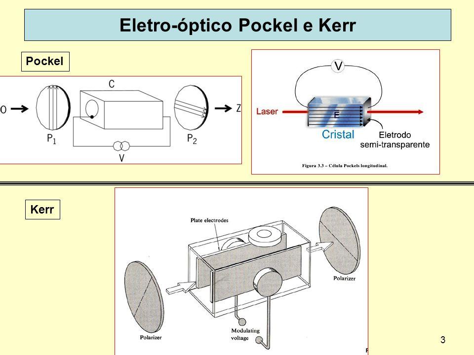 Eletro-óptico Pockel e Kerr