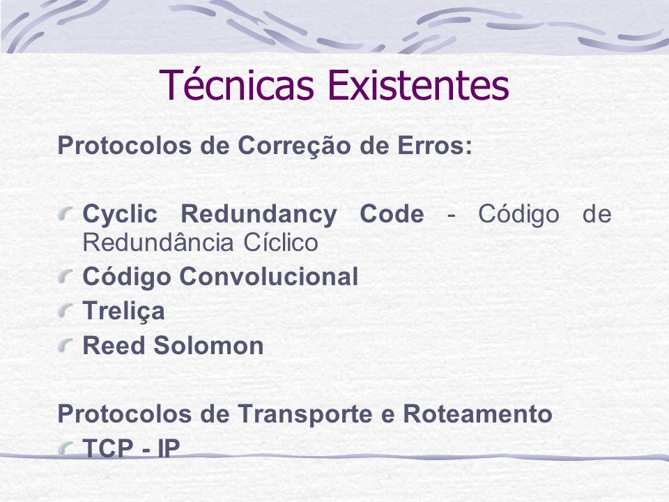 Técnicas Existentes Protocolos de Correção de Erros: