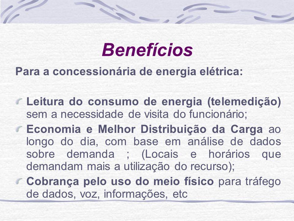 Benefícios Para a concessionária de energia elétrica: