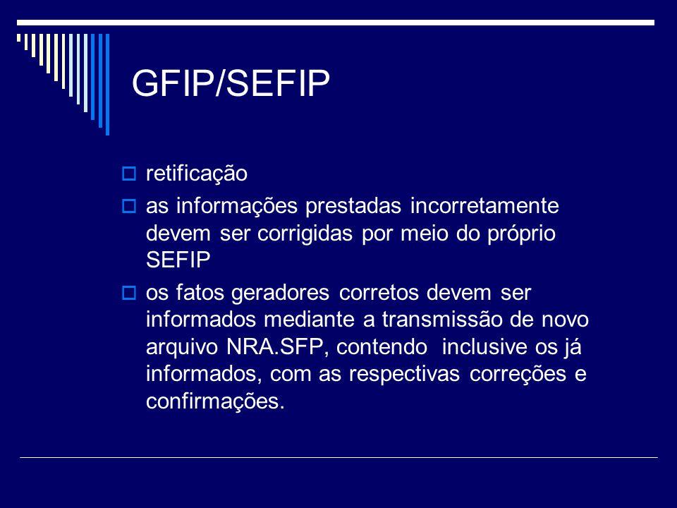 GFIP/SEFIP retificação