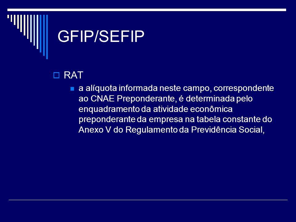 GFIP/SEFIP RAT.