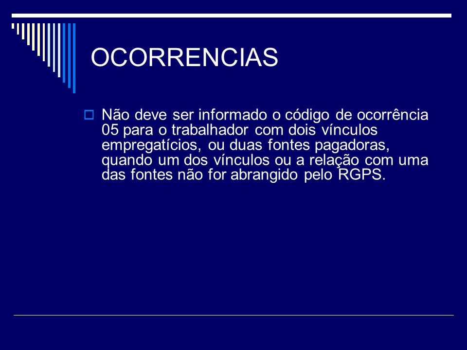 OCORRENCIAS