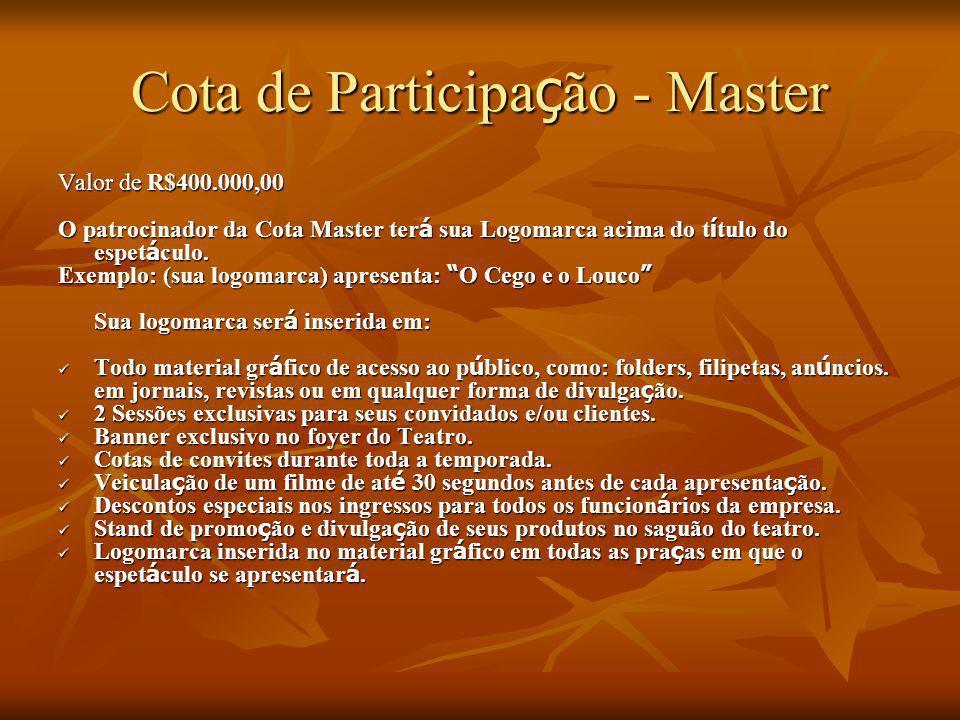 Cota de Participação - Master