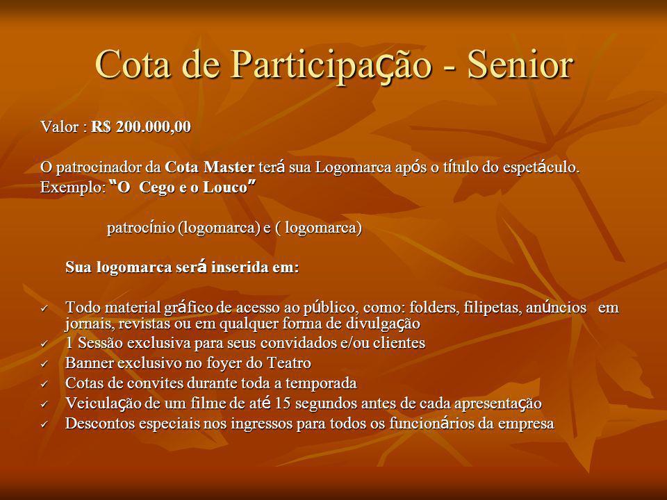 Cota de Participação - Senior