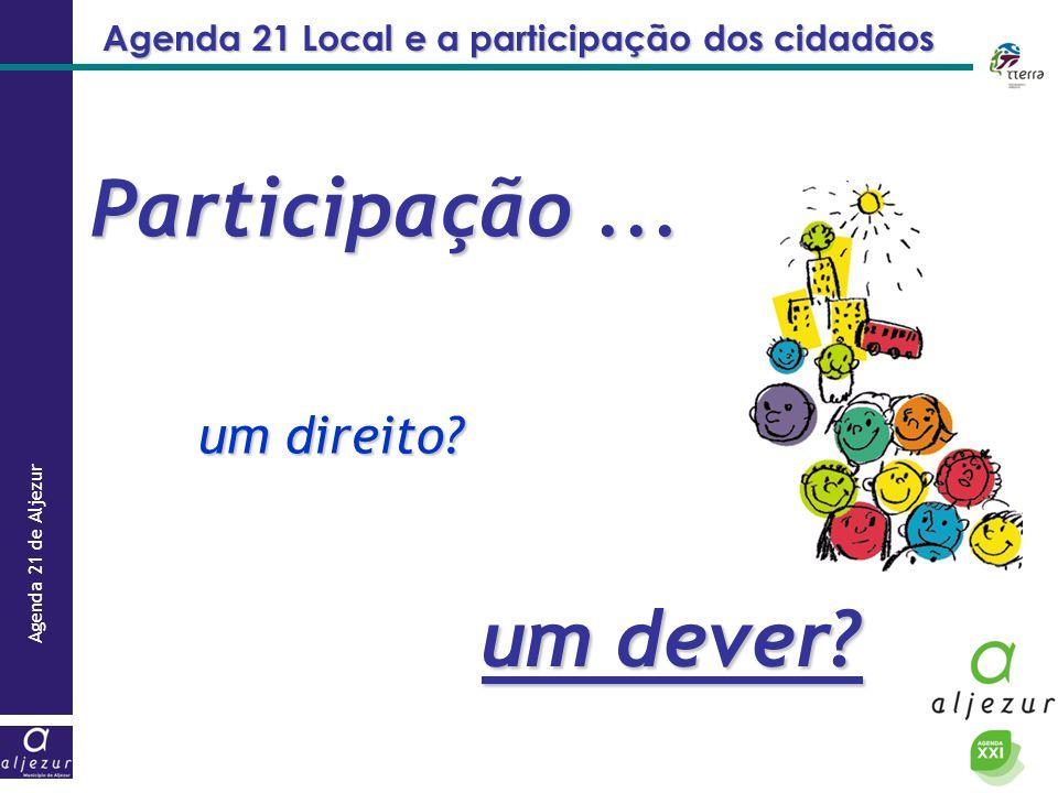 Agenda 21 Local e a participação dos cidadãos