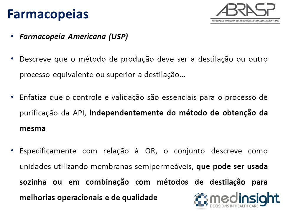 Farmacopeias Farmacopeia Americana (USP)