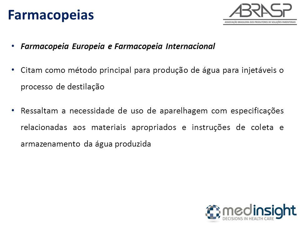 Farmacopeias Farmacopeia Europeia e Farmacopeia Internacional
