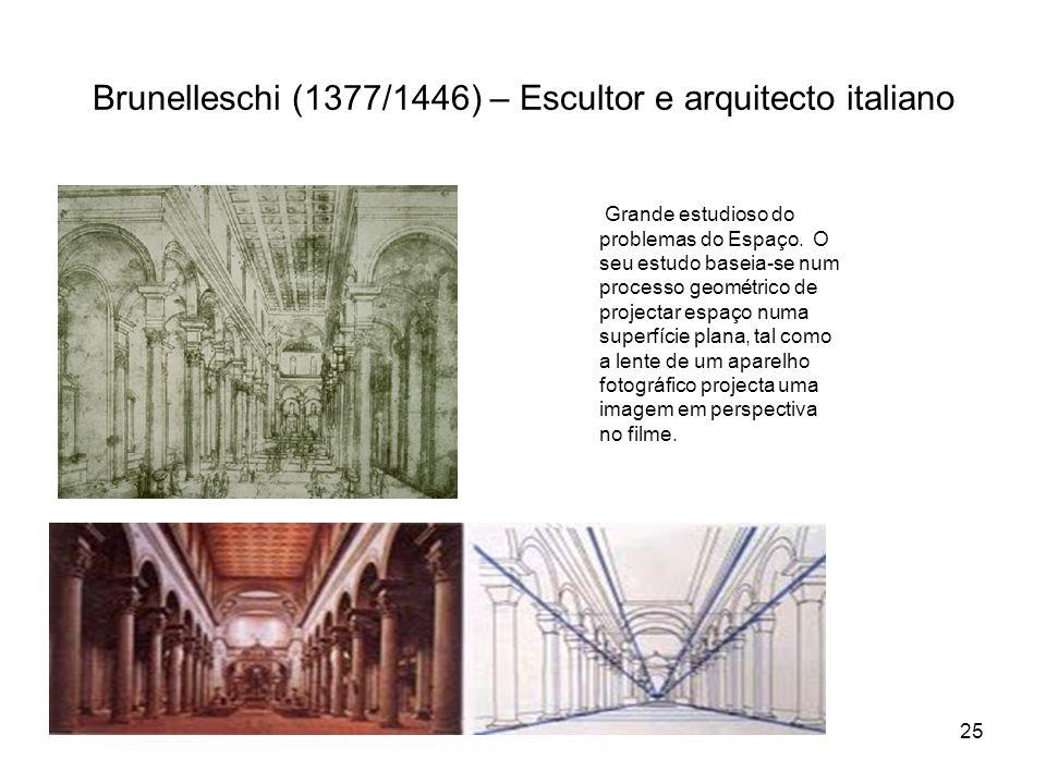 Brunelleschi (1377/1446) – Escultor e arquitecto italiano