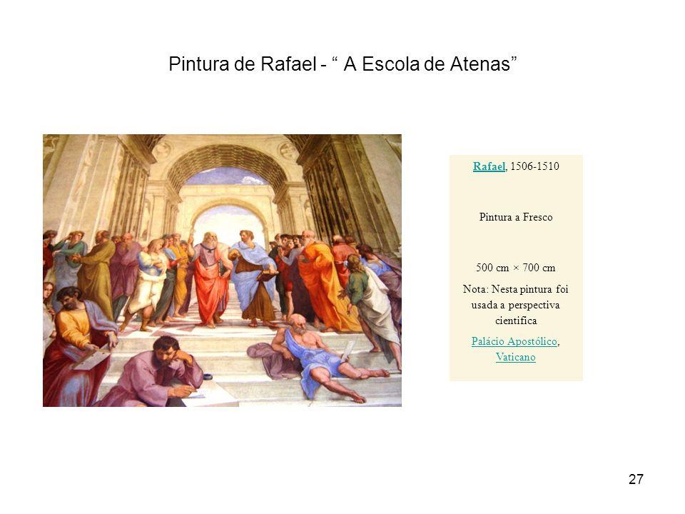 Pintura de Rafael - A Escola de Atenas
