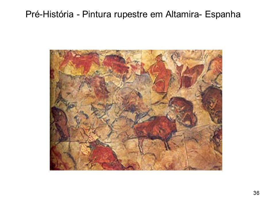 Pré-História - Pintura rupestre em Altamira- Espanha