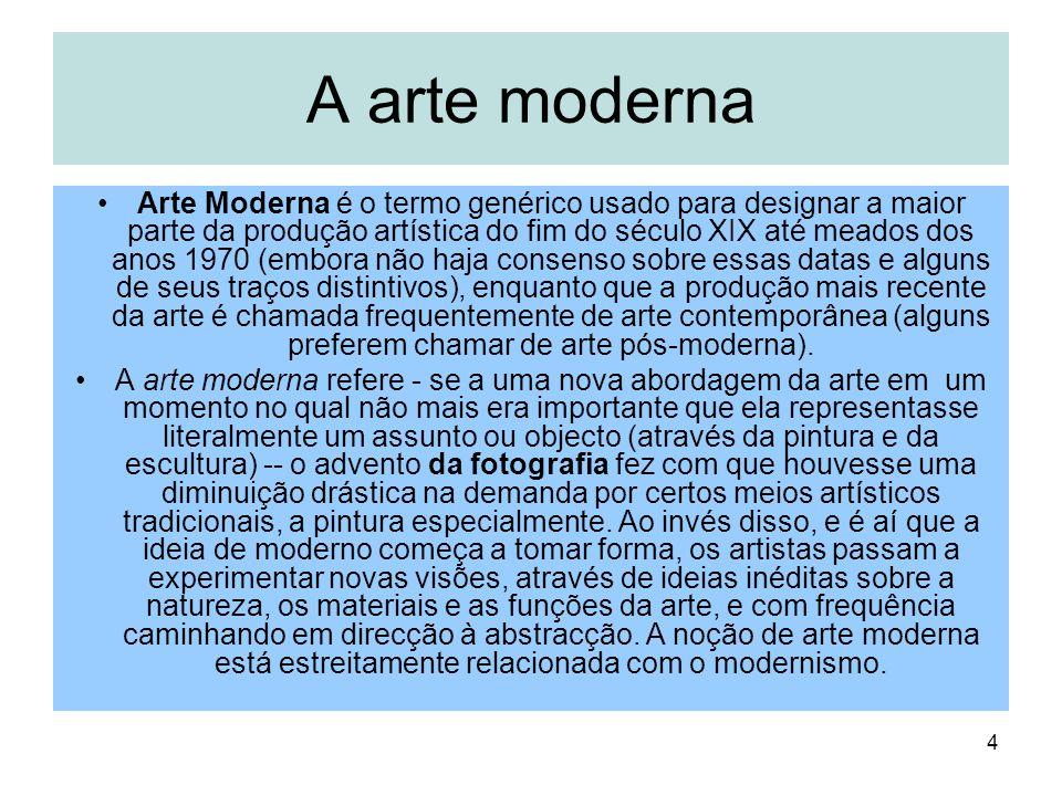 A arte moderna
