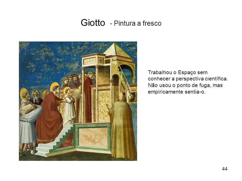 Giotto - Pintura a fresco