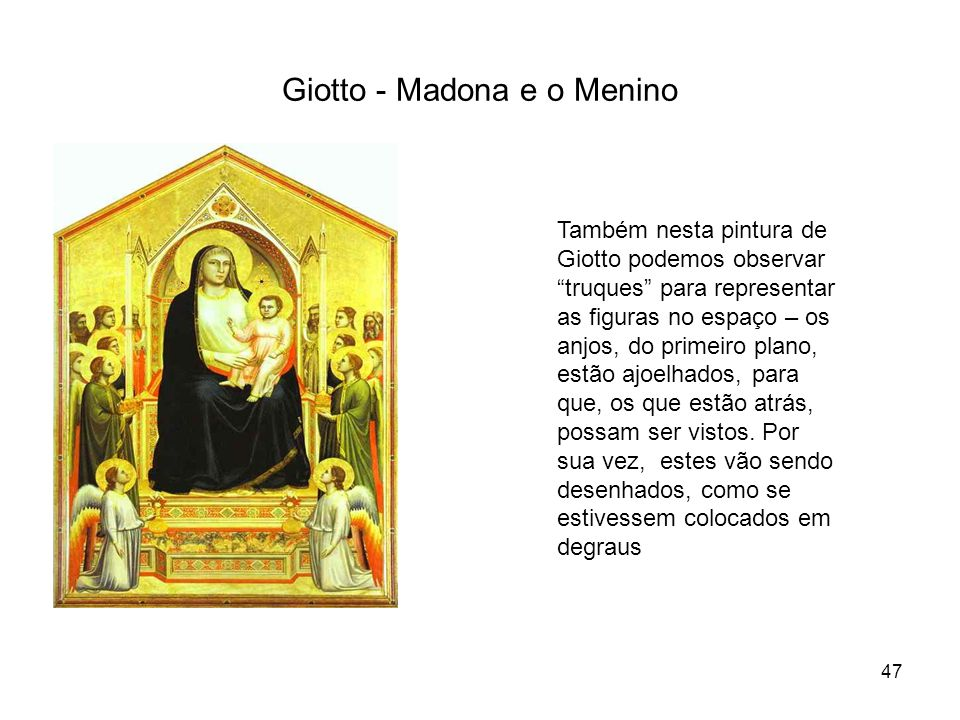 Giotto - Madona e o Menino