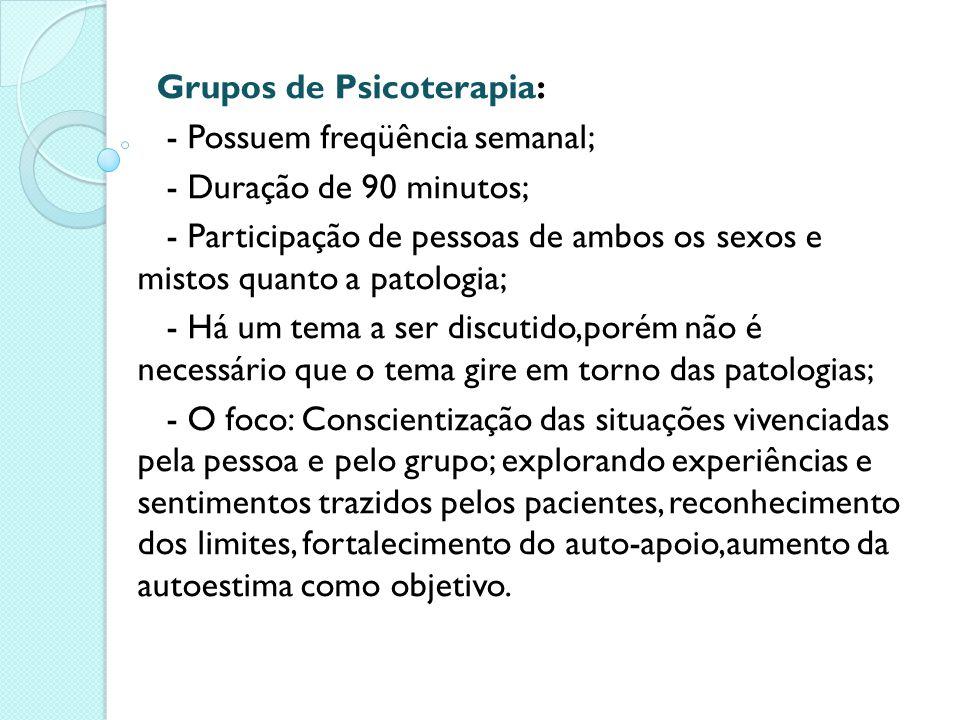 Grupos de Psicoterapia: