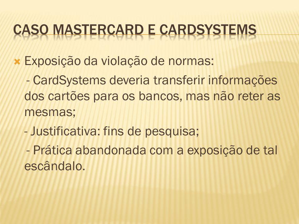 Caso Mastercard E CARDSYSTEMS