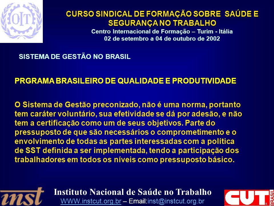 PRGRAMA BRASILEIRO DE QUALIDADE E PRODUTIVIDADE