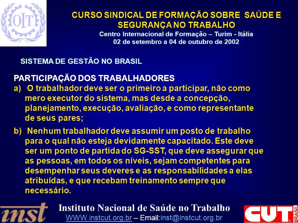 PARTICIPAÇÃO DOS TRABALHADORES